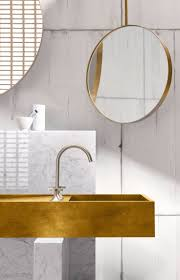 best 25 modern bathroom furniture ideas on pinterest in this space rendered in an unconventional blend of brass carrara marble light wood and matte platinum an eclectic modern bathroom by dornbracht