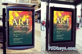 bus stop poster mockup template 70162 free download photoshop