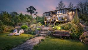 luxury self catering home in cornwall swimming pond