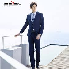 what to wear to a casual wedding seven7 2018 summer royal blue suits men slim fit