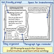 of the week paragraph writing prompts printable u0026 digital
