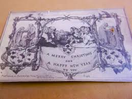 a copy of the first ever christmas card found in the cundall