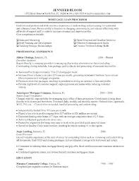 Resume Objective Samples For Entry Level Mortgage Processor Resume Sample Mortgage Loan Processor Job