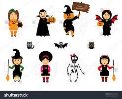 halloween continuous background vector set halloween cartoon stylepeople holiday stock vector