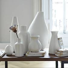 White Ceramic Floor Vase Pure White Ceramic Vases West Elm