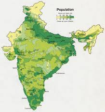 Population Density Map Of The World by Imperialism In India