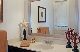Custom Framed Bathroom Mirrors Bathroom Mirror Frame Ideas Bathroom Tropical With Mirror Molding