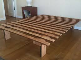 Making A Platform Bed Base by Forward Thinking Furniture Very Very Simple Bed Frame Bed Stuy
