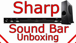 sharp home theater system sharp sound bar unboxing ht sb40 youtube