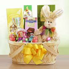easter gift basket easter wishes bunny gift basket at gift baskets etc