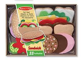 jeux de cuisine fast food doug 13954 aliments en feutre ensemble de