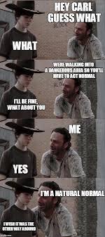 Hey Carl Meme - rick and carl long memes imgflip