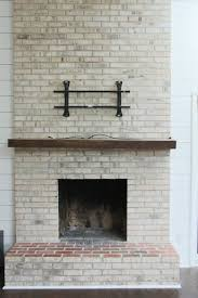 how to whitewash your brick fireplace with milk paint the
