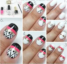 Beautiful Simple Nail Art Designs Step By Step At Home Photos - At home nail art designs for beginners