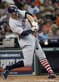yankees judge sanchez to participate in home run derby the new york yankees aaron judge hits a single against the houston astros during the eighth