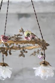 French Chandelier Shades French Antique Bronze Chandelier And Frosted Glass Rose Lamp