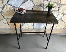 Steel Pipe Desk Standing Desk Etsy