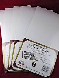 4x6 photo album refill pages lot 5 packs 4x6 inch photo album refill pages 3 ring binder 30