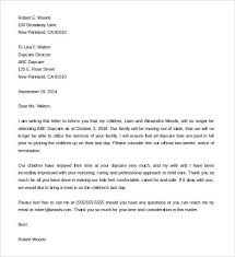 letter termination sample employee termination letter template