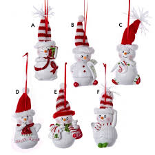 resin sassyville snowman ornament and city