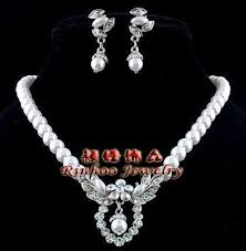 jewelry necklace pearl set images Pearl set ebay JPG