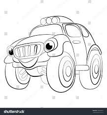 color cartoon merry car jeep coloring stock vector 188628323