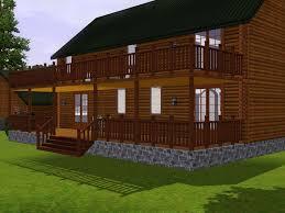 mod the sims log home accessory set
