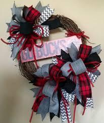 ohio state ribbon sale osu wreath ohio state wreath go bucks wreath by wreathywoman