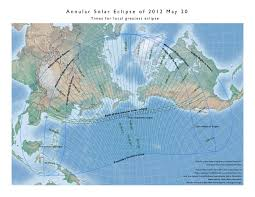 Map Of California And Oregon by Annular Solar Eclipse Of 2012 May 20
