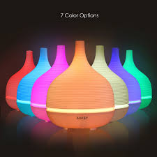 aukey aroma diffuser 500ml cool mist 7 color led light amazon co