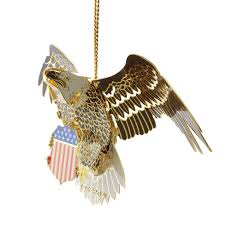 bald eagle 3d christmas ornament handcrafted in the usa item 54436