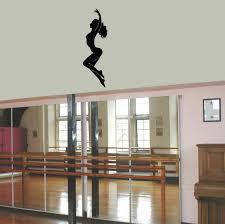 graceful dance studio wall vinyl decal sticker mural art home