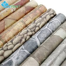 compare prices on adhesive plastic roll online shopping buy low self adhesive wall paper 3d brick pvc stone vinyl wall stickers for living room study walls