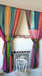 Sari Fabric Curtains Sari Patchwork Curtain Popular Sheer Window Curtain Fabric