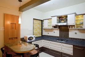 small modern kitchen interior idea with slate backsplash also