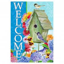 welcome garden flags