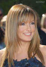 below shoulders a line haircut mariska hargitay s long sleek hair with a tapered line around the face