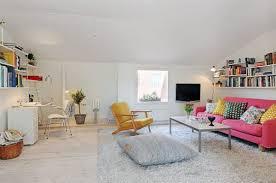 Small Studio Apartment Ideas Apartment Studio Apartment Interior With Black Sofa Across Metal