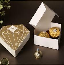 wedding gift box ideas 50pcs lot diamond gold wedding favors candy boxes wedding gift box