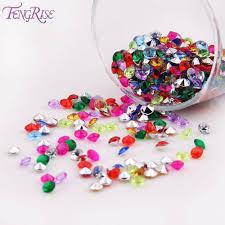 diamond party supplies fengrise 1000ps 4 5mm wedding decoration crafts diamond confetti