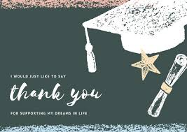 thank you graduation cards blackboard with chalk illustrations graduation thank you card