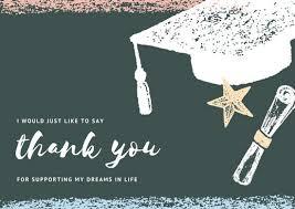 graduation thank you cards customize 26 graduation thank you card templates online canva