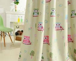 Owl Curtains For Nursery Owl Curtains Etsy
