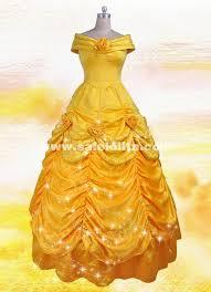 Bella Halloween Costume Beauty Beast Cosplay Bella Costume Yellow Belle Princess