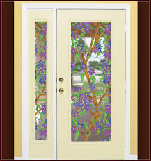 Window Film For Patio Doors Tiffany Stained Glass Cling Biscayne See Thru Window Film