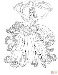 scheherazade dance coloring page free printable coloring pages