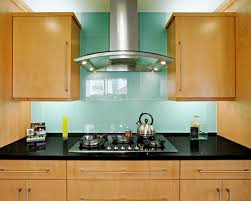 Blue Glass Kitchen Backsplash - Green glass backsplash tile