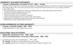 Resume Sample For Fresher Teacher by Resume Sample For Fresher Lecturer Templates