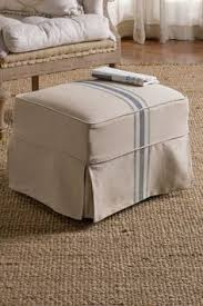 Slipcover Ottoman Before After Ottoman Slipcover Beyond The Screen Door Sh
