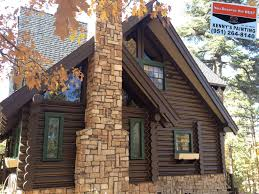 big bear log home painted by kennys painting log home